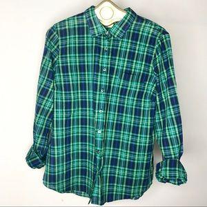 JCrew Factory Plaid Button Down Shirt size XL